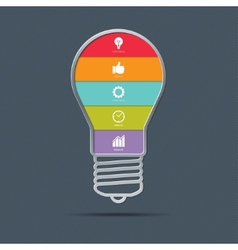 Light bulb infographics concept vector image