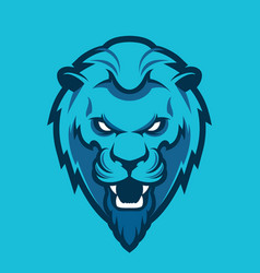 lion head sport mascot vector image vector image
