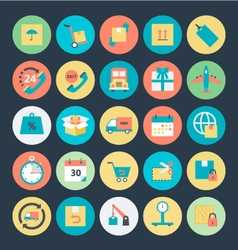Logistics delivery icons 1 vector