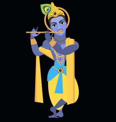 Lord vishnu krishna vector