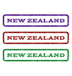 new zealand watermark stamp vector image