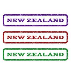 New zealand watermark stamp vector