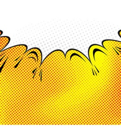 Pop-art comic speech bubble background vector