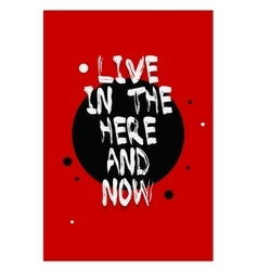 Poster lettering with quote on a red background vector image vector image