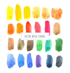 Rainbow varied watercolor hand painted brush vector