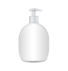 realistic cosmetic plastic bottle mockup vector image vector image