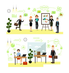 set of business people symbols icons in vector image
