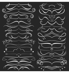 Set of hand drawn doodle design elements on vector image vector image