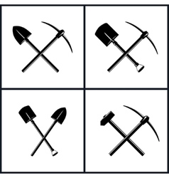 Set of Tools for Excavation vector image