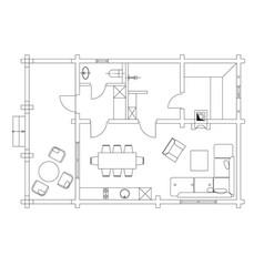 standard living room furniture symbols set vector image