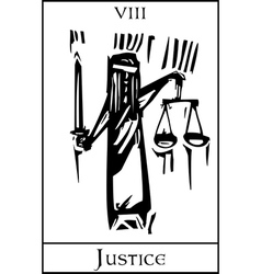 Tarot Card Justice vector image vector image
