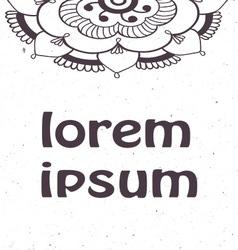 Vintage invitation corners on grunge background vector