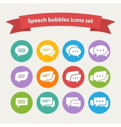 white speech bubble icons vector image vector image