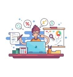 Woman financial accountant vector image