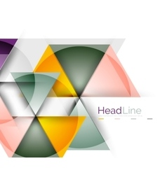 Colorful triangles on white background vector