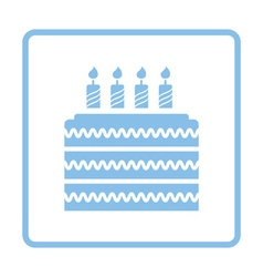 Party cake icon vector