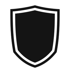 Military shield icon simple style vector