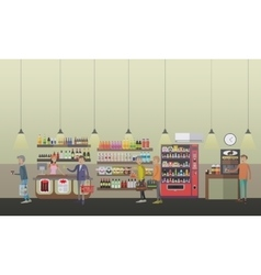 Coffee shop concept in flat vector
