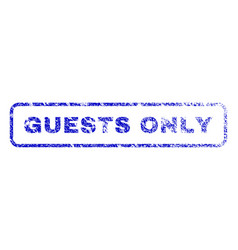 Guests only rubber stamp vector