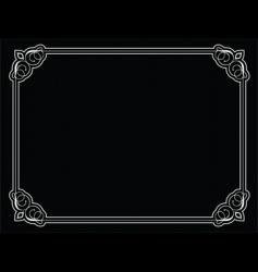 decorative border vector image