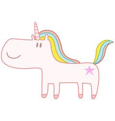 happy unicorn vector image