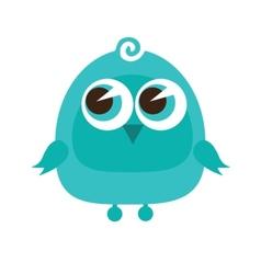 Drawing of a cute cartoon bird standing vector image