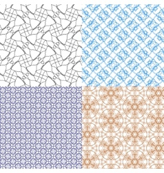 Geometric patterns tiling set of abstract vintage vector