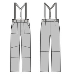 Pants with braces vector