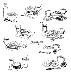 Breakfasts set vector