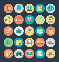 Logistics delivery icons 2 vector