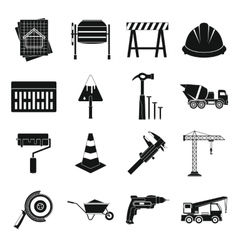 Architecture icons set simple style vector