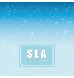 Sea design blue background colorful vector