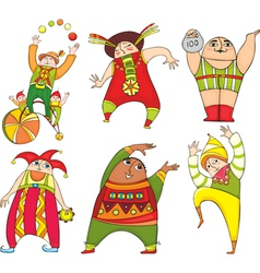 Circus actor set vector