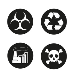 Industrial pollution icons vector