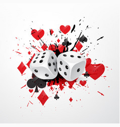 Abstract dice background with splatter and vector