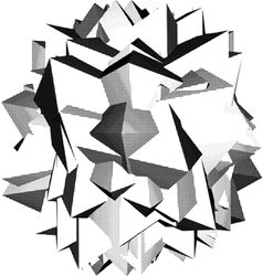 Abstract star shape icon in halftone shading vector