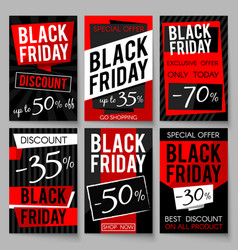 Black friday sale advertising posters vector