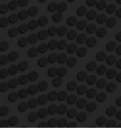 Black textured plastic dots forming chevron vector image vector image