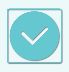 check mark icon tick symbol in blue color with vector image