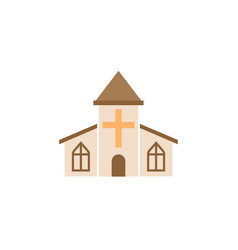 church solid icon religious monument and building vector image