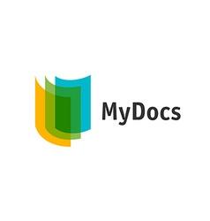 Color sheets logo vector image vector image