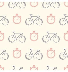 Decorative seamless pattern with racing bikes vector image vector image