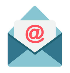 email flat icon envelope and website vector image