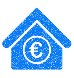 Euro financial center grunge icon vector