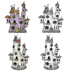 Fantasy houses vector image