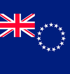 Flag cook islands flat style vector