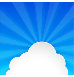 fluffy cloud on bright blue sky vector image vector image