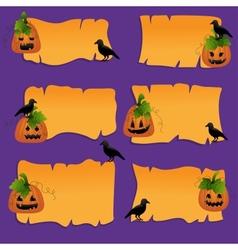 Halloween scrapbook design elements vector image