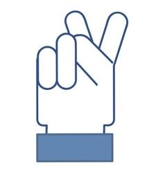 Hand blue social media vector