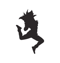 Hip hop dancer silhouette vector image